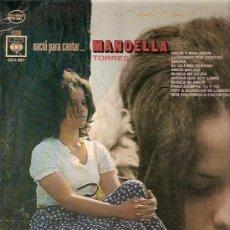 Discos de vinilo: MANOELLA TORRES LP SELLO CBS EDICCIÓN MEXICANA. Lote 10003535