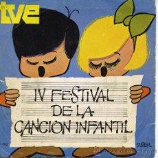 Discos de vinilo: IV FESTIVAL DE LA CANCION INFANTIL - ISABEL -. Lote 10038403