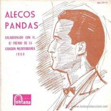 Discos de vinilo: ALECOS PANDAS - CANCION MEDITERRANEA 1960 ****FONTANA 1960. Lote 13805962