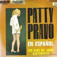 Discos de vinilo: PATTY PRAVO CANTANDO EN ESPAÑOL - LOS OJOS DEL AMOR ***1969. Lote 11689678
