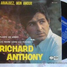 Discos de vinilo: ARANJUEZ, MON AMOUR RICHARD ANTHONY. Lote 27098503