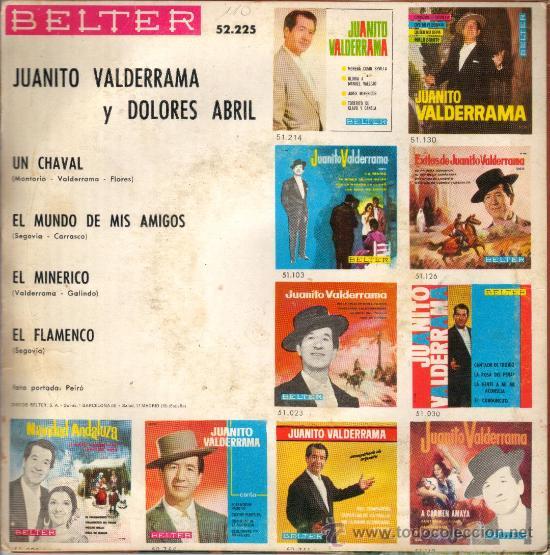 Discos de vinilo: EP JUANITO VALDERRAMA Y DOLORES ABRIL (UN CHAVAL, EL MINERICO, EL FLAMENCO...) belter 1968 - Foto 2 - 27554861