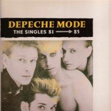 Discos de vinilo: DISCO DE VINILO L.P. DE DEPECHE MODE, THE SINGLES 81 – 85: PEOPLE ARE PEOPLE, MASTER AND SERVANT, IT. Lote 25103705