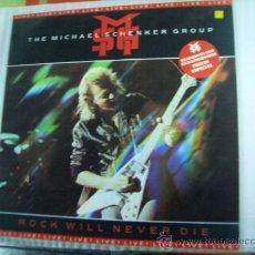 Discos de vinilo: LP. THE MICHAEL SCHENKER GROUP - ROCK WILL NEVER DIE LIVE. Lote 26184516