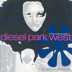 Dischi in vinile: DIESEL PARK WEST - ALL THE MYTHS ON SUNDAY / BENT SHATTERED AND BLUE - SINGLE INGLES DE 1989. Lote 10132702