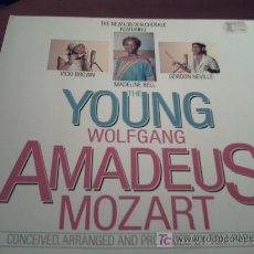Discos de vinilo: THE YOUNG WOLFGANG AMADEUS MOZART/VICKI BROWN,MADELINE BELL ,GORDON NEVILLE/LP. Lote 10395286