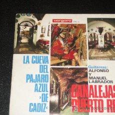 Discos de vinilo: CANALEJAS DE PUERTO REAL AÑO 1965 - VERGARA 37 UC. Lote 10200417