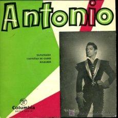 Discos de vinilo: ANTONIO EL BAILARÍN - ZAPATEADO / CANTIÑAS DE CÁDIZ / SOLEARES - 196?. Lote 16635849
