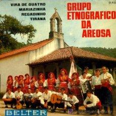 Discos de vinilo: GRUPO ETNOGRAFICO DE AREOSA - VIRA DE QUATRO / MARIAZINHA / REGADINHO / TIRANA - EP 1968. Lote 16652042