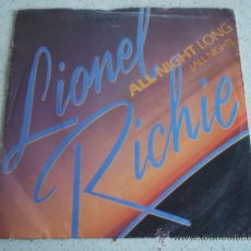 Discos de vinilo: LIONEL RICHIE ( ALL NIGHT LONG - WANDERING STRANGER ) LONDON-1983 SINGLE45 . Lote 10220847
