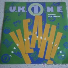 Discos de vinilo: U.K. 1 FEATURING TIA & CHANTEL ( YEAH! 'TURN ON THE LIGHT' - OFF ) GERMANY-1990 SINGLE45. Lote 206536772