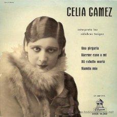 Discos de vinilo: CELIA GAMEZ EP SELLO ODEON AÑO 1958 . Lote 10239641