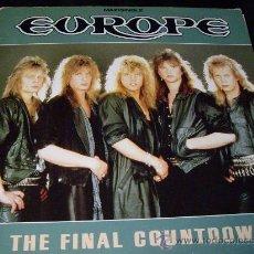 Discos de vinilo: MAXI THE FINAL COUNTDOWN-EUROPE-1986. Lote 26938436