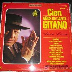 Discos de vinilo: ANTONIO MAIRENA CIEN AÑOS DE CANTE GITANO - AÑO 67 - HISPAVOX HH10 269. Lote 10245856