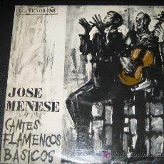 Discos de vinilo: JOSE MENESE - CANTES FLAMENCOS BASICOS - RCA LSP-LPM10340 - AÑO 1967. Lote 10245938