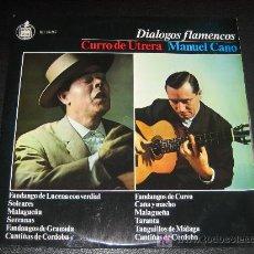 Discos de vinilo: DIALOGOS FLAMENCOS - CURRO DE UTRERA- MANUEL CANO - HISPAVOX HH10-267. Lote 10246005