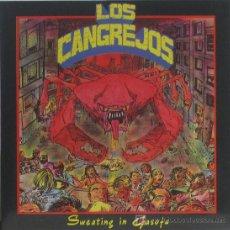 Discos de vinilo: LOS CANGREJOS 'SWEATING IN GASOFA' EP 1990 LA FABRICA MAGNETICA. ENCARTE. HOJA PROMO. Lote 10263548
