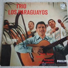 Discos de vinilo: TRIO LOS PARAGUAYOS ( MARIA DOLORES - SERENATA - MALAGUEÑA - PAJARO CAMPANA) HOLANDA EP45 PHILIPS. Lote 10286674
