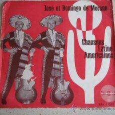 Discos de vinilo: JOSÉ Y DOMINGO DE MORENO (MARIA DEL CARMEN - EL SOLDADO DE LEVITA - QUE SERA - LAS DOS PUNTAS) EP45. Lote 10289901