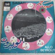 Discos de vinilo: SABAH ( ALLO BEYROUTH - YA BEIT EDDINE - CHEFTOU BEL ANATER ) FRANCE EP45 PATHÉ VOIX DE L'ORIENT. Lote 10293584
