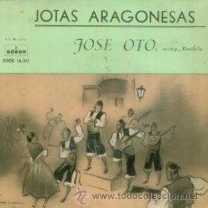 Dischi in vinile: JOSE OTO - JOTAS ARAGONESAS - EP RARO DE VINILO RECOSTRUCCION TECNICA DE 1959. Lote 28071467