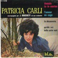 Discos de vinilo: PATRICIA CARLI - DEMAIN TU TE MARIES ** EP 1964. Lote 12292243