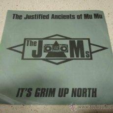 Discos de vinilo: THE JUSTIFIELD ANCIENTS OF MU MU 'THE JAMS' (IT'S GRIM UP NORTH 2 VERSIONES) GERMANY-1991 SINGLE45. Lote 10335721