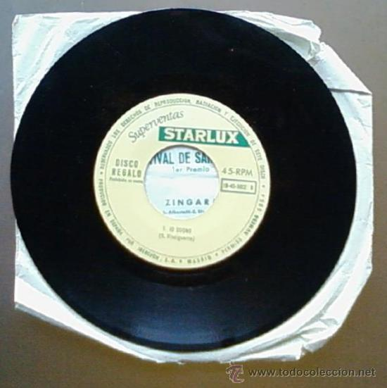 Discos de vinilo: IVA ZANICCHI - ZINGARA / IO SOGNO - SAN REMO 1969 - SPAIN SG OBSEQUIO STARLUX - Foto 2 - 12208075