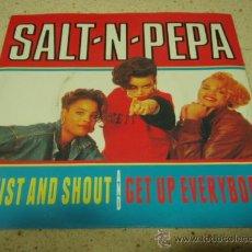 Discos de vinilo: SALT N PEPA ( TWIST AND SHOUT - GET UP EVERYBODY ) HOLANDA-1988 SINGLE45 LONDON RECORDS. Lote 10395265