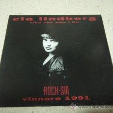 Discos de vinilo: CIA LINDBERG ( LIKE THE WAY I DO - I SHOULD HAVE TOLD YOU ) 1991 SINGLE45 ALPHA RECORDS. Lote 10410957