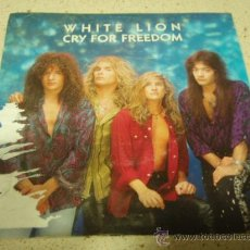 Discos de vinilo: WHITE LION ( CRY FOR FREEDOM - DIRTY WOMAN ) GERMANY-1989 SINGLE45 ATLANTIC. Lote 10451389