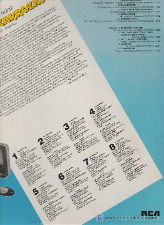 Discos de vinilo: MUSICA PARA JOVENES CARROZAS VOL 2 - SYLVIE VARTAN / GIANNI MORANDI / JENNY LUNA - Foto 2 - 14054822