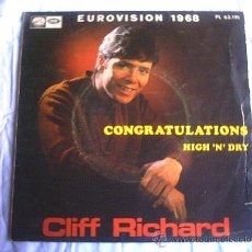 Discos de vinilo: CLIFF RICHARD - 1968 / EUROVISION. Lote 10457662