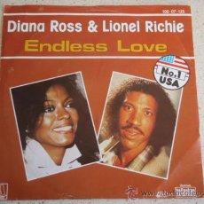 Discos de vinilo: DIANA ROSS & LIONEL RICHIE Nº1 USA ( ENDLESS LOVE 2 VERSIONES ) 1981 SINGLE45 MOTOWN . Lote 10461192