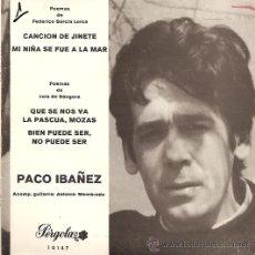 Discos de vinilo: PACO IBAÑEZ EP SELLO PERGOLA AÑO 1969. Lote 10475455