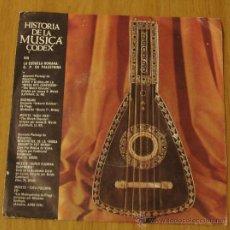 Discos de vinilo: HISTORIA DE LA MUSICA. CODEX. VOL VIII LA ESCUELA ROMANA : G.P. DA PALESTRINA. Lote 10491058