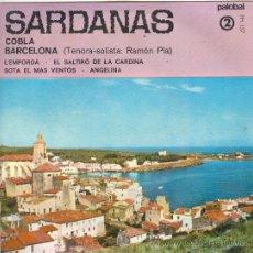 Discos de vinilo: UXV SARDANAS 2 COBLA BARCELONA TENORA RAMON PLA L´EMPORDA ANGELINA SOTA EL MAS VENTOS SINGLE. Lote 27622578