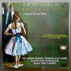 Discos de vinilo: LA DUQUESA DEL BAL TABARIN - OPERETA DE LEO BARD - LP ZAFIRO 1971. Lote 14848831