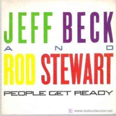Discos de vinilo: JEFF BECK AND ROD STWEWART - BACK ON THE STREET ***PROMOCIONAL CBS EPIC 1985. Lote 11431851