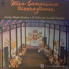 Discos de vinilo: MISA CAMPESINA NICARAGUENSE LP CARLOS MEJIA GODOY Y EL TALLER DEL SONIDO POPULAR. Lote 187177816