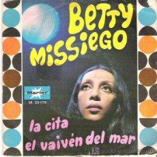 Discos de vinilo: BETTY MISSIEGO - LA CITA *** MARFER 1971. Lote 10549635