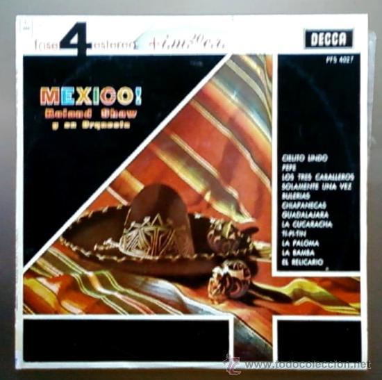 ROLAND SHAW Y SU ORQUESTA - MÉXICO - FASE 4 ESTEREO - LP COLUMBIA DECCA 1963 (Música - Discos - LP Vinilo - Orquestas)
