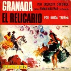 Discos de vinilo: EMMA MALERAS - GRANADA / EL RELICARIO - 1966. Lote 10558953