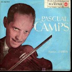 Discos de vinilo: PASCUAL CAMPS - CZRDAS / LA DANZA DE LA ALONDRA / SERENATA / MEDITACIÓN DE THAIS - EP 1963. Lote 162297612