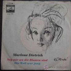 Discos de vinilo: MARLENE DIETRICH & ORCHESTRA BY BURT BACHARACH ( SAG MIR WI DIE BLUMEN SIND - DIE WELT WAR JUNG ) . Lote 10570274