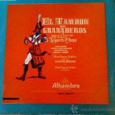 Discos de vinilo: ZARZUELA--EL TAMBOR DE GRANADEROS Y LA ALSACIANA LP DE VINILO. Lote 27612866