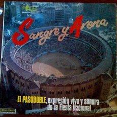 Discos de vinilo: LP SANGRE Y ARENA, EL PASODOBLE. Lote 26716337