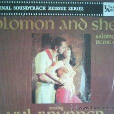 Discos de vinilo: SOLOMON AND SHEBA B.S.O.EDICION FRANCESA. Lote 10634484