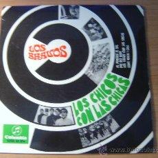 Discos de vinilo: LOS BRAVOS - LOS CHICOS CON LAS CHICAS (1967) ¡¡¡¡EP ORIGINAL, COMO NUEVO!!!. Lote 27254148