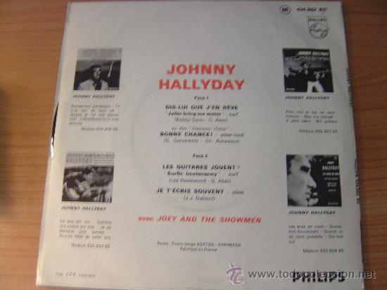 Discos de vinilo: JOHNNY HALLYDAY - EP JOHNNY HALLYDAY EDICION FRANCESA EDITION FRANCAISE, PHILLIPS 434.862 - Foto 2 - 98526039